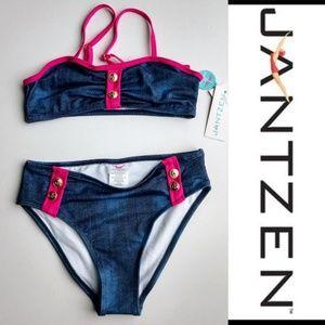 Jantzen Two Piece Bikini Swimsuit Bathing Suit NWT